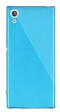 Dafoni Aircraft Sony Xperia XA1 Süper İnce Şeffaf Mavi Silikon Kılıf
