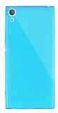Dafoni Aircraft Sony Xperia XA1 Ultra Süper İnce Şeffaf Mavi Silikon Kılıf