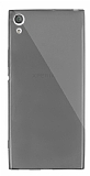 Dafoni Aircraft Sony Xperia XA1 Ultra Süper İnce Şeffaf Siyah Silikon Kılıf