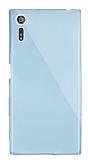 Dafoni Aircraft Sony Xperia XZ Ultra İnce Şeffaf Mavi Silikon Kılıf