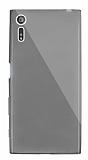 Dafoni Aircraft Sony Xperia XZ Ultra İnce Şeffaf Siyah Silikon Kılıf