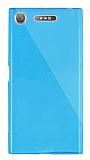 Dafoni Aircraft Sony Xperia XZ1 Süper İnce Şeffaf Mavi Silikon Kılıf