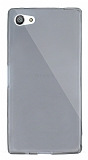 Dafoni Aircraft Sony Xperia Z5 Compact Ultra İnce Şeffaf Siyah Silikon Kılıf
