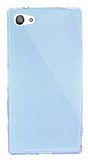 Dafoni Aircraft Sony Xperia Z5 Compact Ultra İnce Şeffaf Mavi Silikon Kılıf