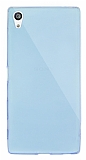Dafoni Aircraft Sony Xperia Z5 Premium Ultra İnce Şeffaf Mavi Silikon Kılıf