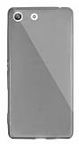 Dafoni Aircraft Sony Xperia M5 Ultra İnce Şeffaf Siyah Silikon Kılıf