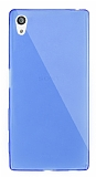 Dafoni Aircraft Sony Xperia Z5 Ultra İnce Şeffaf Mavi Silikon Kılıf