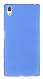 Sony Xperia Z5 Ultra İnce Şeffaf Mavi Silikon Kılıf