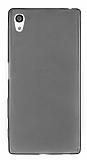 Sony Xperia Z5 Ultra İnce Şeffaf Siyah Silikon Kılıf