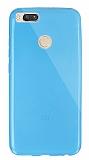 Dafoni Aircraft Xiaomi Mi 5X Ultra İnce Şeffaf Mavi Silikon Kılıf