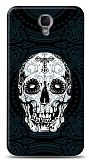 Alcatel One Touch idol 2 OT-6037 Black Skull Kılıf