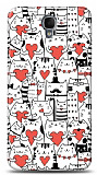 Dafoni Alcatel One Touch idol 2 OT-6037 Love Cats K�l�f