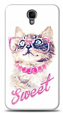 Alcatel One Touch idol 2 OT-6037 Sweet Cat Kılıf