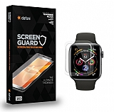 Dafoni Apple Watch 4 / Watch 5 Tempered Glass Premium Şeffaf Full Cam Ekran Koruyucu (44 mm)