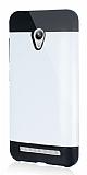 Dafoni Asus Zenfone Go Slim Power Ultra Koruma Beyaz Kılıf