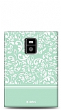 Dafoni BlackBerry Passport Green Flower Kılıf