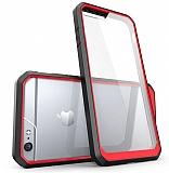 Dafoni Color Side iPhone 6 Plus / 6S Plus Kristal Kırmızı Kılıf