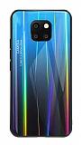 Dafoni Colorful Huawei Mate 20 Pro Cam Mavi Kılıf