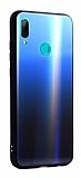 Dafoni Colorful Huawei P Smart 2019 Cam Lacivert Kılıf