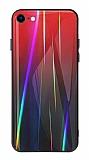 Dafoni Colorful iPhone 7 / 8 Cam Kırmızı Kılıf