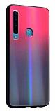 Dafoni Colorful Samsung Galaxy A9 2018 Cam Kırmızı Kılıf