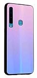 Dafoni Colorful Samsung Galaxy A9 2018 Cam Pembe Kılıf