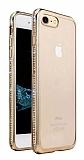 Dafoni Crystal Dream iPhone 7 Taşlı Gold Silikon Kılıf