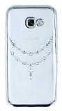 Dafoni Crystal Dream Samsung Galaxy A5 2017 Taşlı Necklace Silver Kenarlı Silikon Kılıf