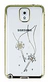 Dafoni Crystal Dream Samsung Galaxy Note 3 Taşlı Anahtar Gold Kenarlı Silikon Kılıf