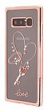Dafoni Crystal Dream Samsung Galaxy Note 8 Taşlı Ring Şeffaf Silikon Kılıf