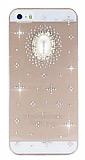 Dafoni Cyrstal Dream iPhone 5 / 5S Beyaz Ta�l� Kristal K�l�f