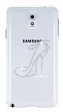 Dafoni Cyrstal Dream Samsung N9000 Galaxy Note 3 Shoes Ta�l� Kristal K�l�f