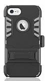 Dafoni Extra Defence iPhone 6 / 6S Kemer Klipsli Gri Ultra Koruma Kılıf