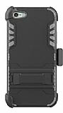 Dafoni Extra Defence iPhone SE / 5 / 5S Kemer Klipsli Gri Ultra Koruma Kılıf