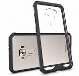 Dafoni Fit Hybrid Asus ZenFone 3 ZE552KL Siyah Kenarlı Ultra Koruma Şeffaf Kılıf
