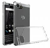 Dafoni Hummer BlackBerry KEYOne Ultra Koruma Şeffaf Silikon Kılıf