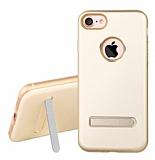 Dafoni Level Shield iPhone 7 / 8 Standlı Ultra Koruma Gold Kılıf