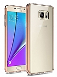 Dafoni Fit Hybrid Samsung Galaxy Note 5 Rose Gold Kılıf
