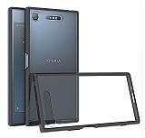 Dafoni Fit Hybrid Sony Xperia XZ1 Siyah Kenarlı Ultra Koruma Şeffaf Kılıf