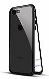 Dafoni Glass Guard 7 / 8 Metal Kenarlı 360 Derece Koruma Cam Siyah Kılıf