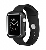 Dafoni Glass Guard Apple Watch Metal Kenarlı Siyah Kılıf 42mm