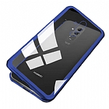 Dafoni Glass Guard Huawei Mate 20 Lite Metal Kenarlı Cam Lacivert Kılıf