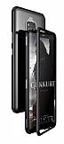 Dafoni Glass Guard Huawei Mate 20 Pro Metal Kenarlı Cam Siyah Kılıf