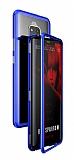 Dafoni Glass Guard Huawei Mate 20 Pro Metal Kenarlı Cam Mavi Kılıf