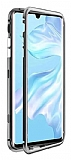 Dafoni Glass Guard Huawei Mate 30 Pro Metal Kenarlı Cam Silver Kılıf
