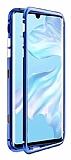 Dafoni Glass Guard Huawei Mate 30 Pro Metal Kenarlı Cam Mavi Kılıf