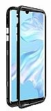 Dafoni Glass Guard Huawei Mate 30 Pro Metal Kenarlı Cam Siyah Kılıf