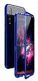 Dafoni Glass Guard Huawei P20 Lite Metal Kenarlı Cam Lacivert Kılıf