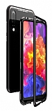 Dafoni Glass Guard Huawei P20 Pro Metal Kenarlı Cam Siyah Kılıf