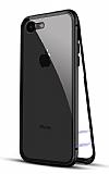 Dafoni Glass Guard iPhone SE 2020 Metal Kenarlı Cam Siyah Kılıf